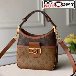Louis Vuitton Hobo Dauphine BB Shoulder Bag M45196 Monogram Canvas/Brown