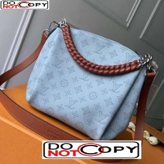 Louis Vuitton Babylone BB Chain Bag in Perforate Calfskin M53153 Blue/Brown