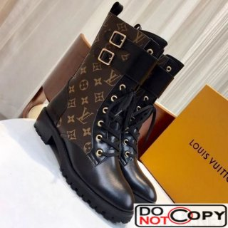 Louis Vuitton Monogram Canvas Clafskin Short Boot
