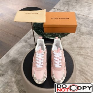 Louis Vuitton Run Away Sneaker 1A4XNL Pink Damier Azur Canvas