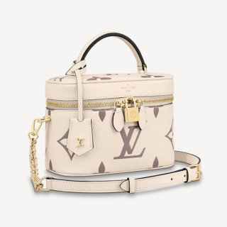 Louis Vuitton Vanity Case PM in Giant Monogram Leather M45599 Cream White/Dusty Pink