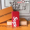 Louis Vuitton x Supreme Iphone6/Iphone7 Holder + Folio Red Epi Leather