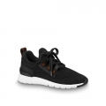 Louis Vuitton Aftergame Monogram Trim Knit Sneakers 1A57CO Black