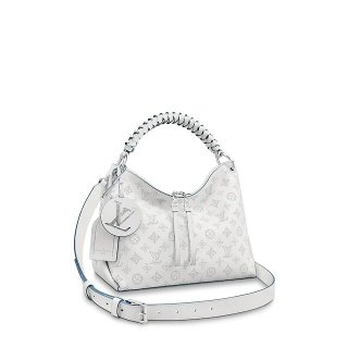Louis Vuitton Beaubourg Hobo MM Bag in Perforate Calfskin M56201 White