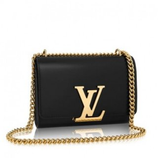 Louis Vuitton Black Chain Louise MM Bag M41279