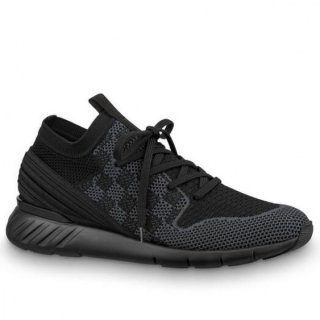 Louis Vuitton Black Fastlane Sneakers Damier Knit
