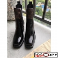 Louis Vuitton Black Patent Leather Monogram Canvas Limitless Ankle Boot 1A3GP3