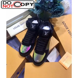 Louis Vuitton Boombox High top Iridescent Sneakers Black