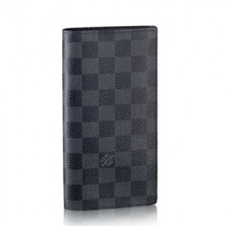 Louis Vuitton Brazza Wallet Damier Graphite N62665