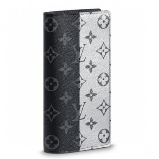 Louis Vuitton Brazza Wallet Eclipse Silver M63027