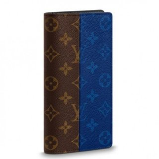 Louis Vuitton Brazza Wallet Monogram Pacific Blue M63026
