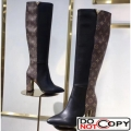 Louis Vuitton Calfskin Monogram Upper East High Boot