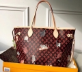Louis Vuitton Catogram Monogram Canvas Neverfull MM Tote Bag M44441 Brown