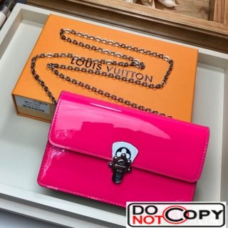 Louis Vuitton Cherrywood WOC Chain Wallet in Patent Leather M67793 Pink