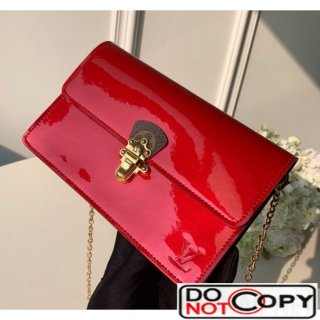 Louis Vuitton Cherrywood WOC Chain Wallet M63306 Red