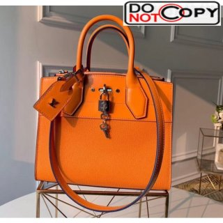 Louis Vuitton City Steamer PM Bag In Smooth Grainy Calfskin M55348 Orange
