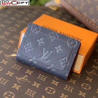 Louis Vuitton Clea Wallet in Monogram Leather M80151 Navy Blue