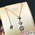 Louis Vuitton Color Blossom Lariat Necklace Pink Gold White Mother Of Pearl Diamond
