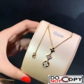 Louis Vuitton Color Blossom Lariat Necklace Yellow Gold White Mother Of Pearl Diamond