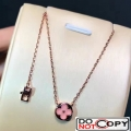 Louis Vuitton Color Blossom Sun Necklace Pink Gold Pink Mother Of Pearl