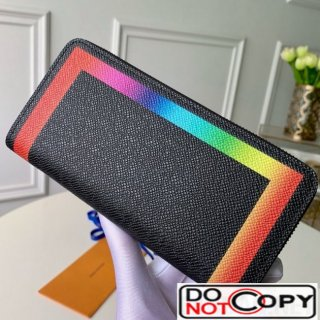Louis Vuitton Colorful Trim Zippy Long Wallet M30569