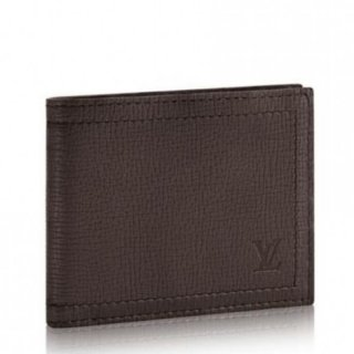Louis Vuitton Compact Wallet Utah Leather M64136