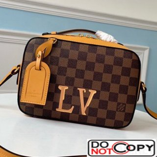 Louis Vuitton Damier Azur Canvas Saintonge Top Handle Bag N40155 Yellow