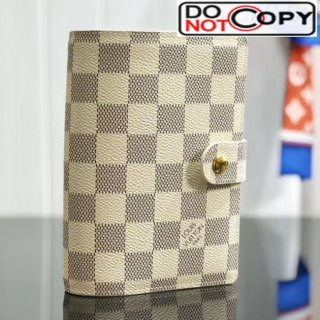 Louis Vuitton Damier Azur Canvas Small Ring Agenda Book Cover R20706 08