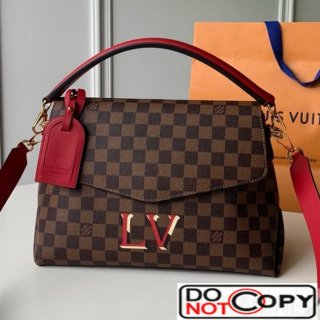 Louis Vuitton Damier Ebene Canvas LV Beaubourg MM Top Handle Bag N40176 Red