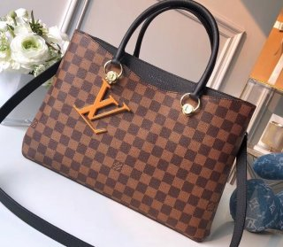 Louis Vuitton Damier Ebene Canvas LV Riverside Tote Bag N40050 Black
