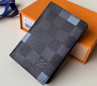Louis Vuitton Damier Graphite Pixel Canvas Pocket Organiser Wallet N60159 Gray