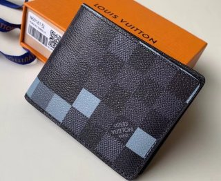 Louis Vuitton Damier Graphite Pixel Canvas Slender Wallet N60181 Gray