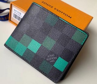 Louis Vuitton Damier Graphite Pixel Canvas Slender Wallet N60182 Green
