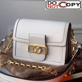 Louis Vuitton Dauphine Mini Smooth Leather Shoulder Bag M55836 White