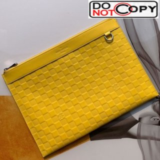 Louis Vuitton Discovery Pochette Damier Infini Leather Pouch N60112 Yellow