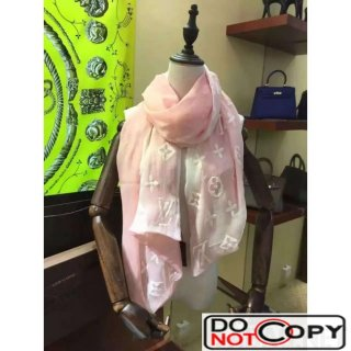 Louis Vuitton Double Layer Embroidery Scarf 1 Pink