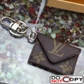 Louis Vuitton Enveloppe Bag Charm Key Holder Monogram Canvas