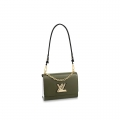 Louis Vuitton Epi Leather Twist MM Bag With Short Chain Handle M51884 Army Green