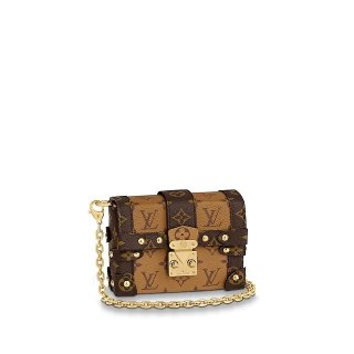 Louis Vuitton Essential Trunk Monogram Reverse Canvas Box Chain Bag M68575