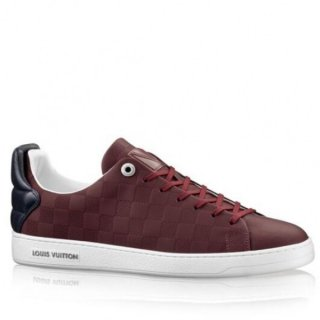Louis Vuitton Frontrow Sneaker In Bordeaux Damier Calf Leather