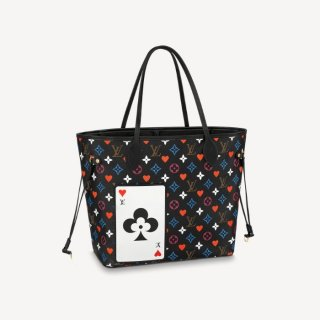 Louis Vuitton Game On Neverfull MM Tote Bag in Black Monogram Canvas M57483