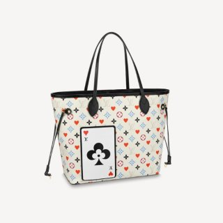 Louis Vuitton Game On Neverfull MM Tote Bag in White Monogram Canvas M57462