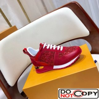 Louis Vuitton Glisten Run Away Sneaker Red