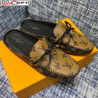 Louis Vuitton Gloria Monogram Reverse Canvas Loafer Mules