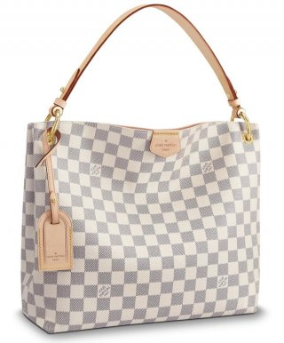 Louis Vuitton Graceful MM N42232 White