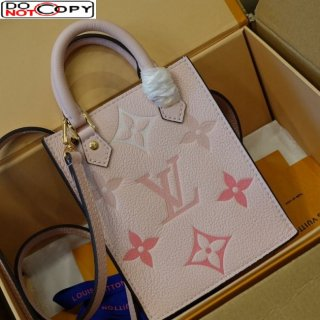Louis Vuitton Gradient Monogram Leather Petit Sac Plat Mini Bucket M80449 Pink