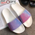 Louis Vuitton Iridescent Monogram Slide Sandals White