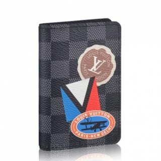 Louis Vuitton League Pocket Organiser Damier Graphite N64440