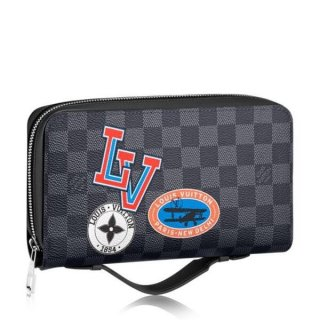 Louis Vuitton League Zippy XL Wallet Damier Graphite N64441
