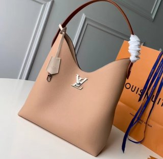 Louis Vuitton Lockme Hobo Shoulder Bag M44330 Beige